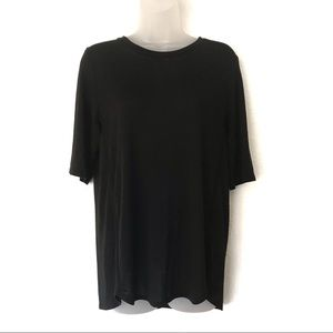 VINCE Oversize Black 3/4 Sleeves Shirt Size S